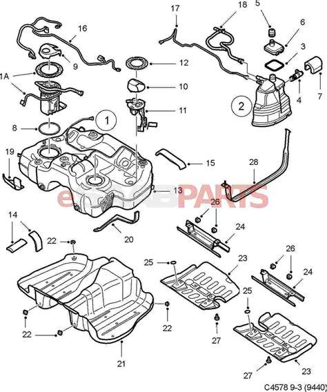 Saab Fuel Diagram by 25827633 Saab Seal Saab Parts From Esaabparts