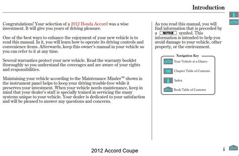 honda accord coupe  owners manual