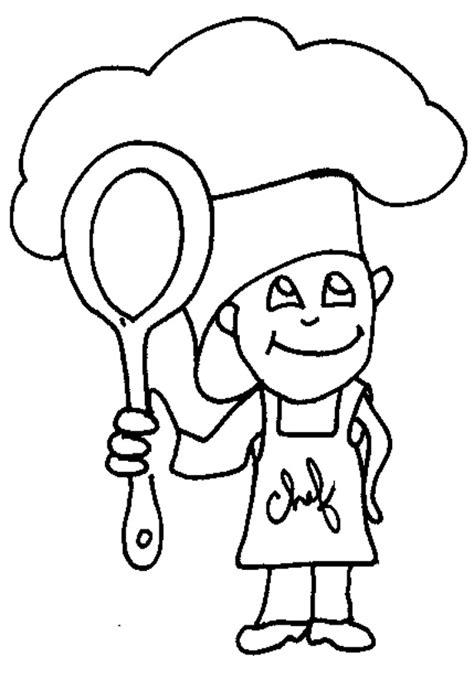 cuisiner l endive coloriage petit chef cuisinier tête à modeler