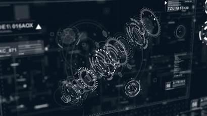 Sci Fi Hud Interface Future Behance Animated