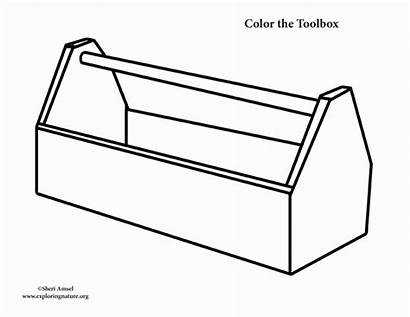 Toolbox Tool Coloring Box Template Pages Printable