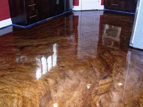 Stained concrete flooring, Ultra high gloss. Epoxy