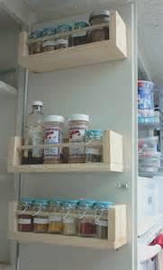 DIY Under Cabinet Spice Rack