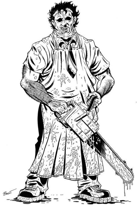 leatherface coloring pages google search cute coloring pages halloween coloring pages