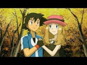 Pokemon Ash and Serena Kiss