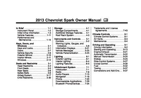 chevrolet spark owners manual  give   damn
