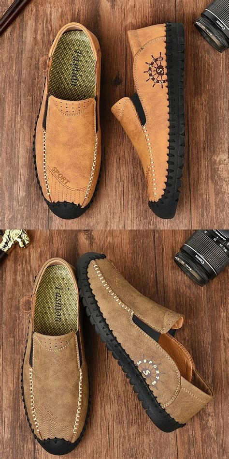Prelesty English Style Walking Men Cow Leather Loafer