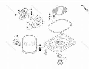 Arctic Cat Side By Side 2006 Oem Parts Diagram For Oil Filter  Pump Assembly
