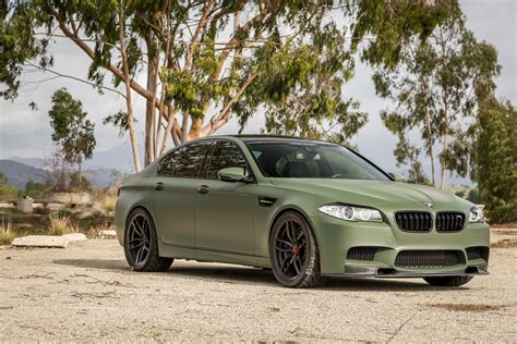matte green if anything a matte military green bmw m5 is certainly