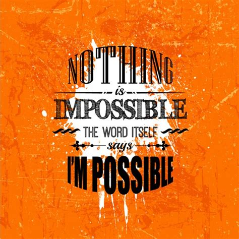 Images Of Nothing Nothing Is Impossible Grunge Lettering Vector Free