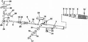 Evinrude Steering Handle  U0026 Throttle Control Parts For 1985