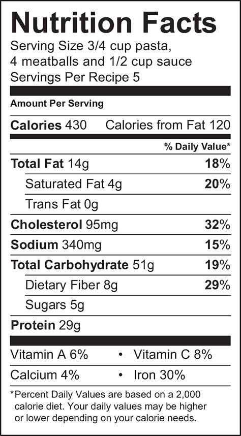 Protein Powder With Nutrition Facts Label Walmart