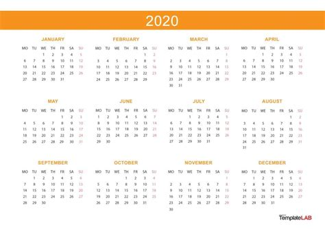 2020 Printable Calendars [monthly, With Holidays, Yearly