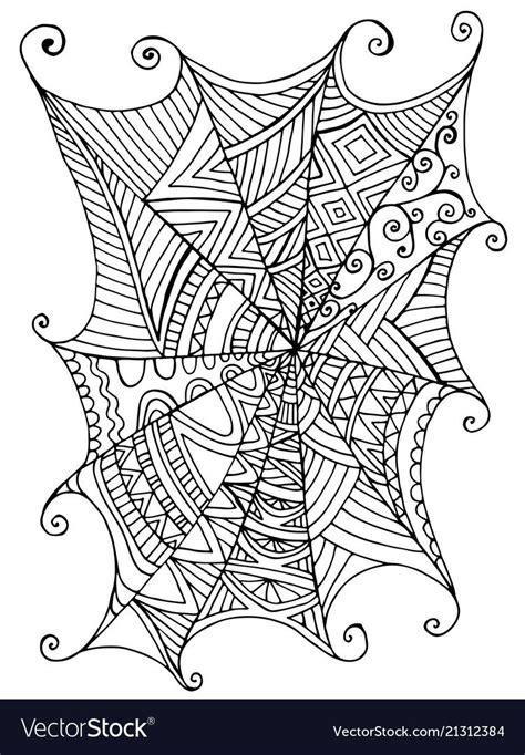 decorative beautiful spider web children  vector image