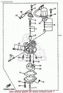 Yamaha Cy50m 2000 Carburetor