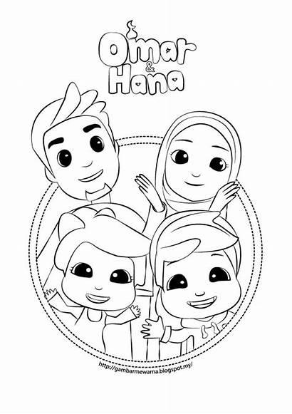Mewarna Hana Omar Gambar Kartun Untuk Kertas