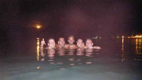 skinny dipping  night  photo