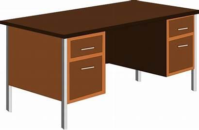 Desk Clipart Cartoon Clip Office Clipground Cliparts