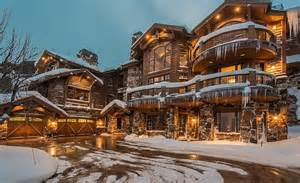 Kitchen Great Room Floor Plans by 9 4 Million Wood Amp Stone Mountaintop Mansion In Park City
