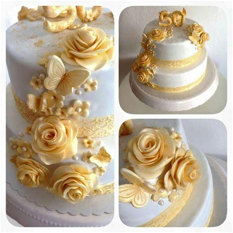 bildergebnis fuer goldene hochzeit torte goldene hochzeit