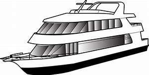 Cruise Ship clipart luxury yacht - Pencil and in color ...
