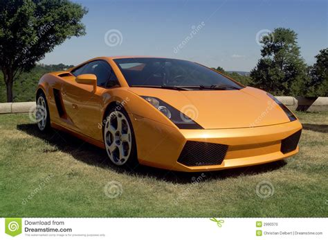 Fast Exotic Car Stock Photo