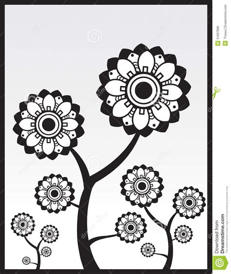 Abstract Flowers Black And White by Black And White Flowers Stock Vector Illustration Of
