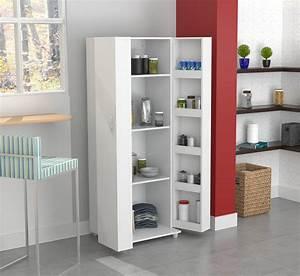 Inval, 2-door, 4-shelf, Laminate, Kitchen, Storage, Pantry, Washed, Oak, -, Walmart, Com