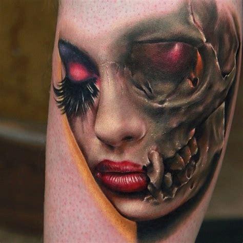 http://tattoomagz.com/face-design-tattoos/skull-girl-face ...