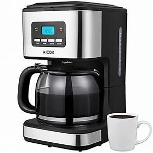 Kaffeemaschine Mit Milchaufschäumer : aicok kaffeemaschine 12 tassen mit timer schwarz edelstahl ~ Eleganceandgraceweddings.com Haus und Dekorationen