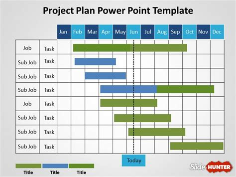powerpoint project schedule template office timeline