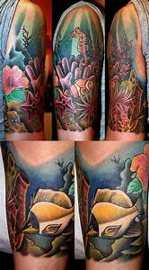 Tropical Underwater Tattoos Designs | coral reef by MrTat2 ...