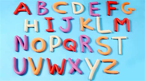 play doh alphabets play doh abc   letters