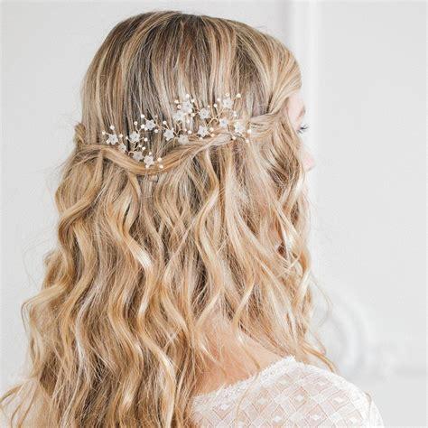 Gold flower wedding hair pins (x3) 'Jasmine' Britten