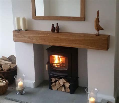 Oak beam fireplace / mantle   floating shelf mantlepiece