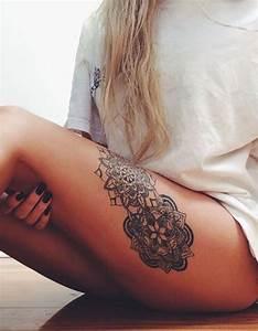 Tatouage De Femme : tatouage cuisse mandala 15 tatouages sur la cuisse qui ~ Melissatoandfro.com Idées de Décoration