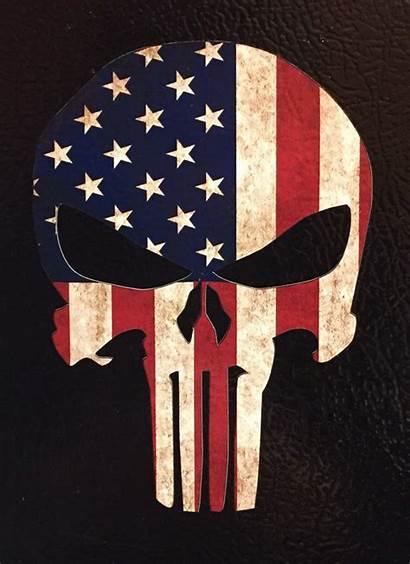 Punisher Skull American Flag Usa Clipart Sniper