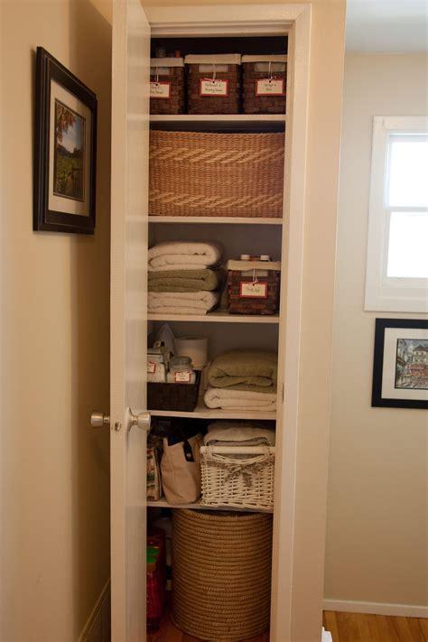 Small Hallway Closet Organization Ideas by Organize Your Linen Closet House