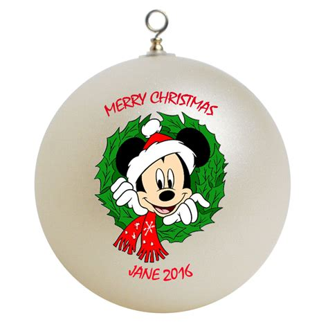 personalized mickey mouse christmas ornament gift add