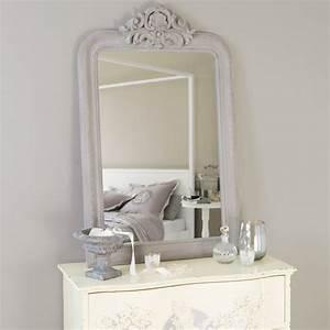 miroir sculpte en bois de paulownia gris h 120 cm altesse With miroir maisons du monde