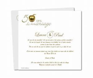 Faire Part Anniversaire 50 Ans : carte anniversaire de mariage 50 ans pomme d 39 or planet ~ Edinachiropracticcenter.com Idées de Décoration