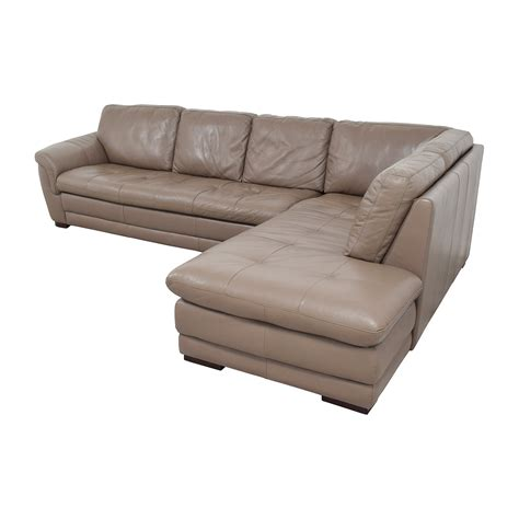 tufted leather sectional sofa 74 off raymour and flanigan raymour flanigan tan