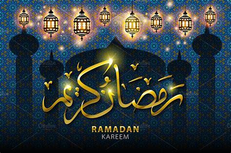 vector ramadan kareem arabic graphics creative market