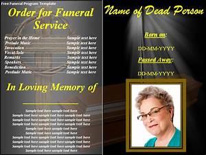 free funeral program template best word templates With free funeral brochure templates online