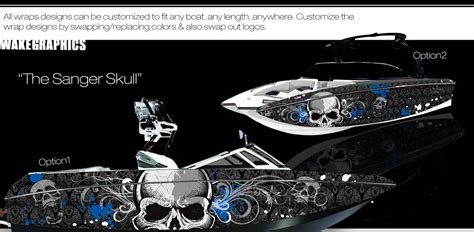 Sanger Boat Graphics by The Sanger Skull