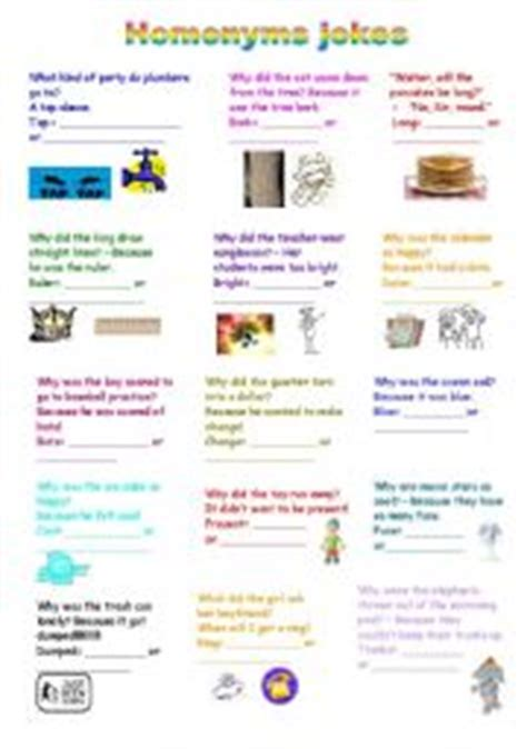 homonyms worksheets