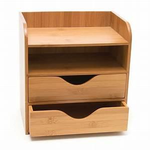 4, Tier, Desk, Organizer, Wood, Rack, Office, Storage, Craft, Paper, Letter, Tray, Gadget