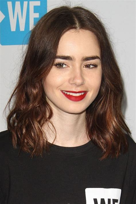 lily collins hairstyles hair colors steal  style
