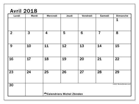 horaire bureau calendrier avril 2018 50ld