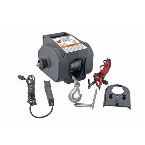 pro lift  ton portable electric winch    home depot